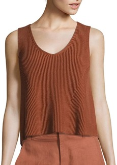 Vince Solid Ribbed Tank