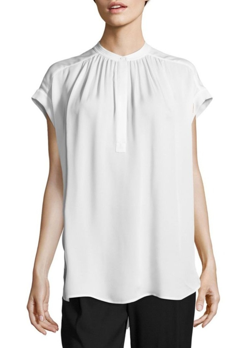 Vince Solid Silk Top