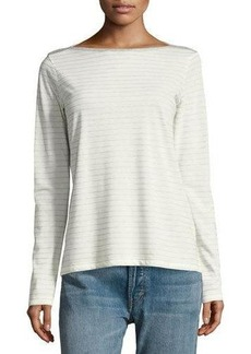 Vince Speed-Stitch Long-Sleeve Striped Top