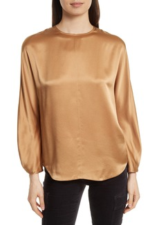 Vince Split Back Silk Blouse