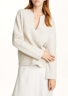 Vince Split Neck Wool & Cashmere Sweater