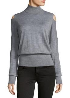Vince Split-Shoulder Turtleneck Sweater