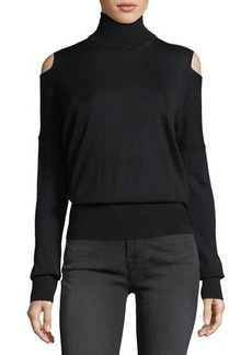 Vince Split-Shoulder Turtleneck Sweater