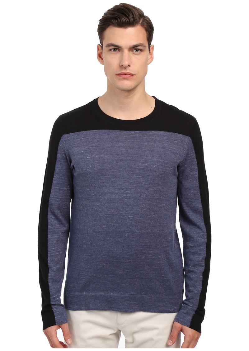 Vince Sporty Jaspe Blocked Crew Neck Sweater