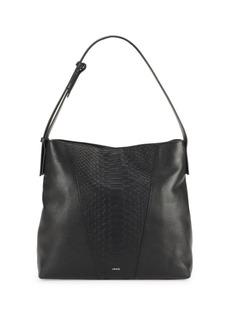 Vince Stamped Leather Shoulder Bag