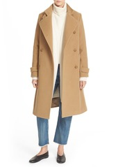 Vince Stand Collar Wool & Cashmere Trench Coat