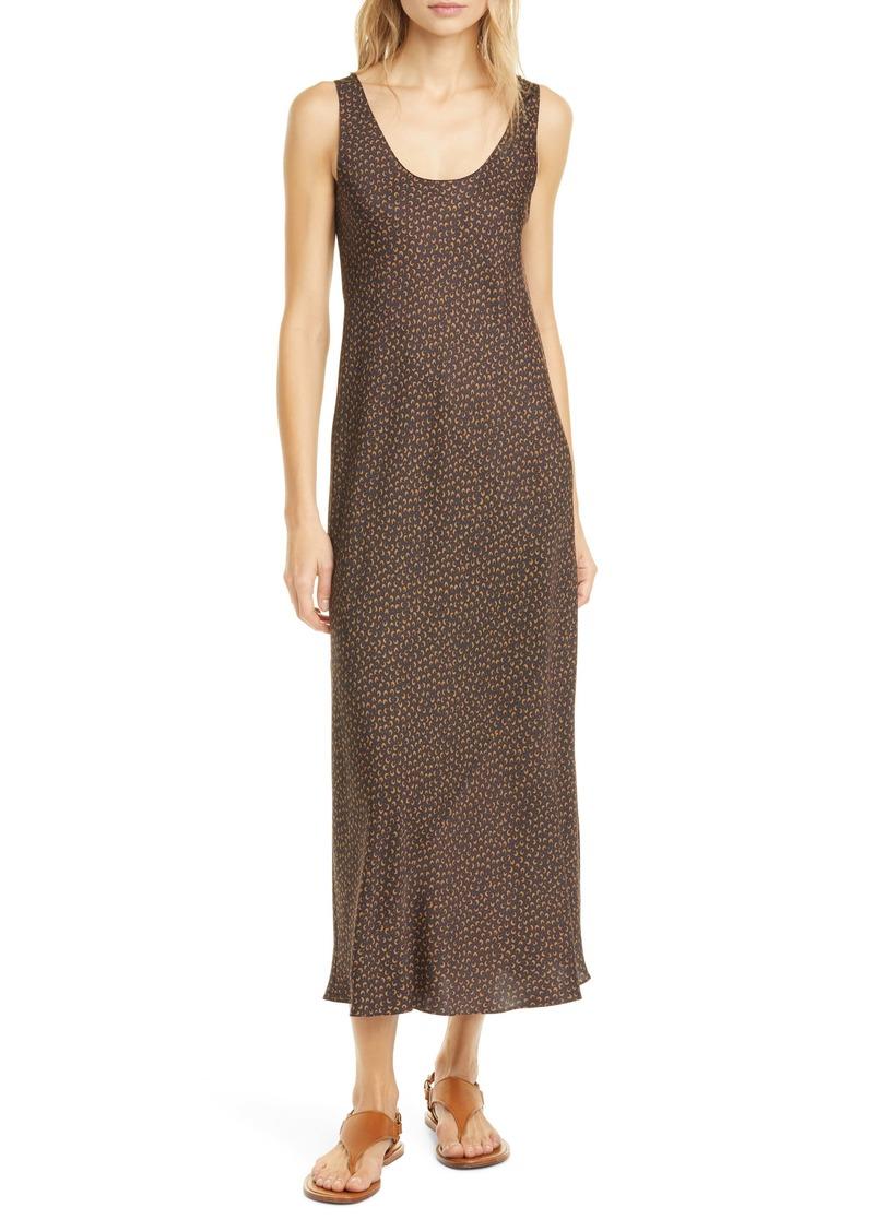 Vince Star Dot Silk Blend Sleeveless Dress