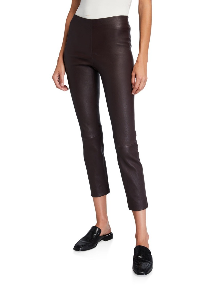 Vince Stitch Back Cropped Leather Leggings