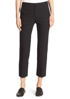 Stovepipe Stretch Cropped Trousers