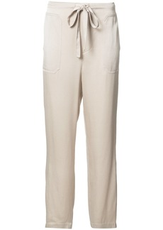 Vince straight drawstring track pants - Nude & Neutrals