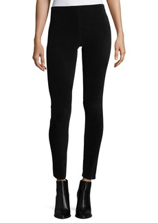 Vince Stretch-Corduroy Full-Length Leggings