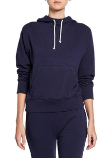 Vince Stretch Cotton Pullover Hoodie