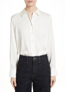 Vince Stretch Silk Blouse