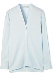 Vince Stretch-silk satin blouse