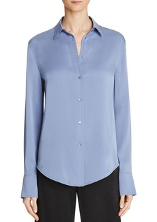 Vince Stretch Silk Slim Fit Blouse
