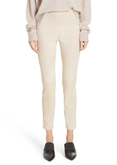 Vince Stretch Suede Ankle Pants