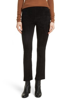 Vince Stretch Suede Crop Flare Pants