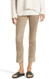 Vince Stretch Suede Crop Pants