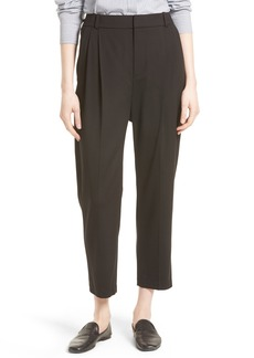 Vince Stretch Wool Crop Trousers