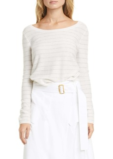 Vince Stripe Ballet Neck Cashmere Sweater