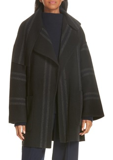 Vince Stripe Blanket Coat