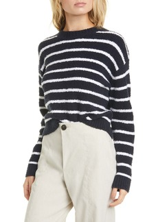 Vince Stripe Cotton Blend Sweater