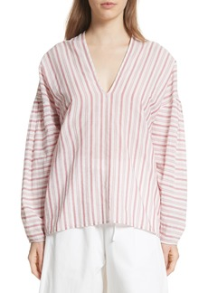 Vince Stripe Cotton Top