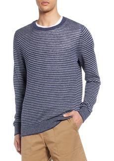Vince Stripe Crewneck Linen Sweater