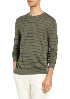 Vince Stripe Crewneck Wool & Linen Sweater