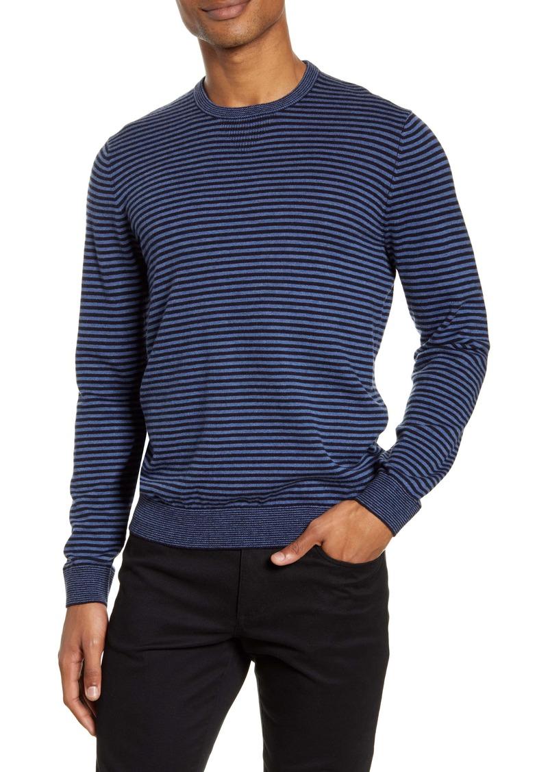 Vince Stripe Crewneck Wool Blend Sweater