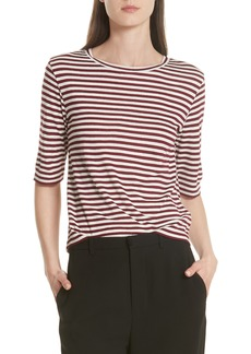 Vince Stripe Crop Tee