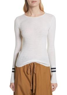 Vince Stripe Cuff Wool Sweater