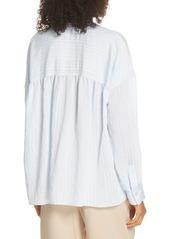 Vince Stripe Drop Sleeve Shirt