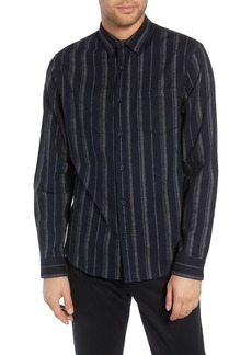 Vince Stripe Flannel Shirt