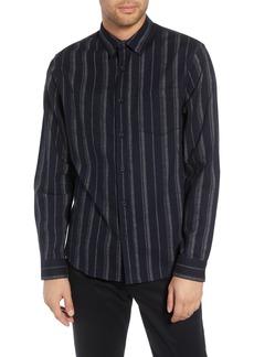 Vince Stripe Flannel Shirt