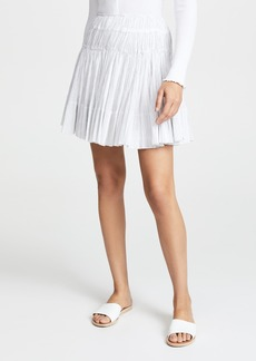 Vince Stripe Pleated Skirt