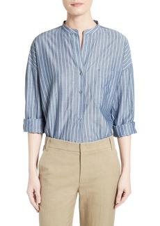 Vince Stripe Popover Shirt