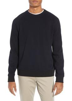 Vince Stripe Ribbed Crewneck Sweatshirt