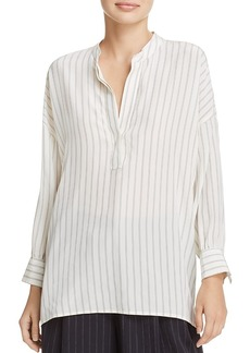 Vince Stripe Silk Blouse