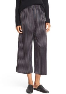Vince Stripe Slouchy Pull-On Crop Pants