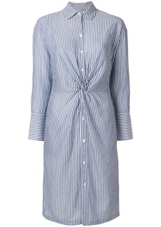 Vince stripe twist front shirt dress - Blue