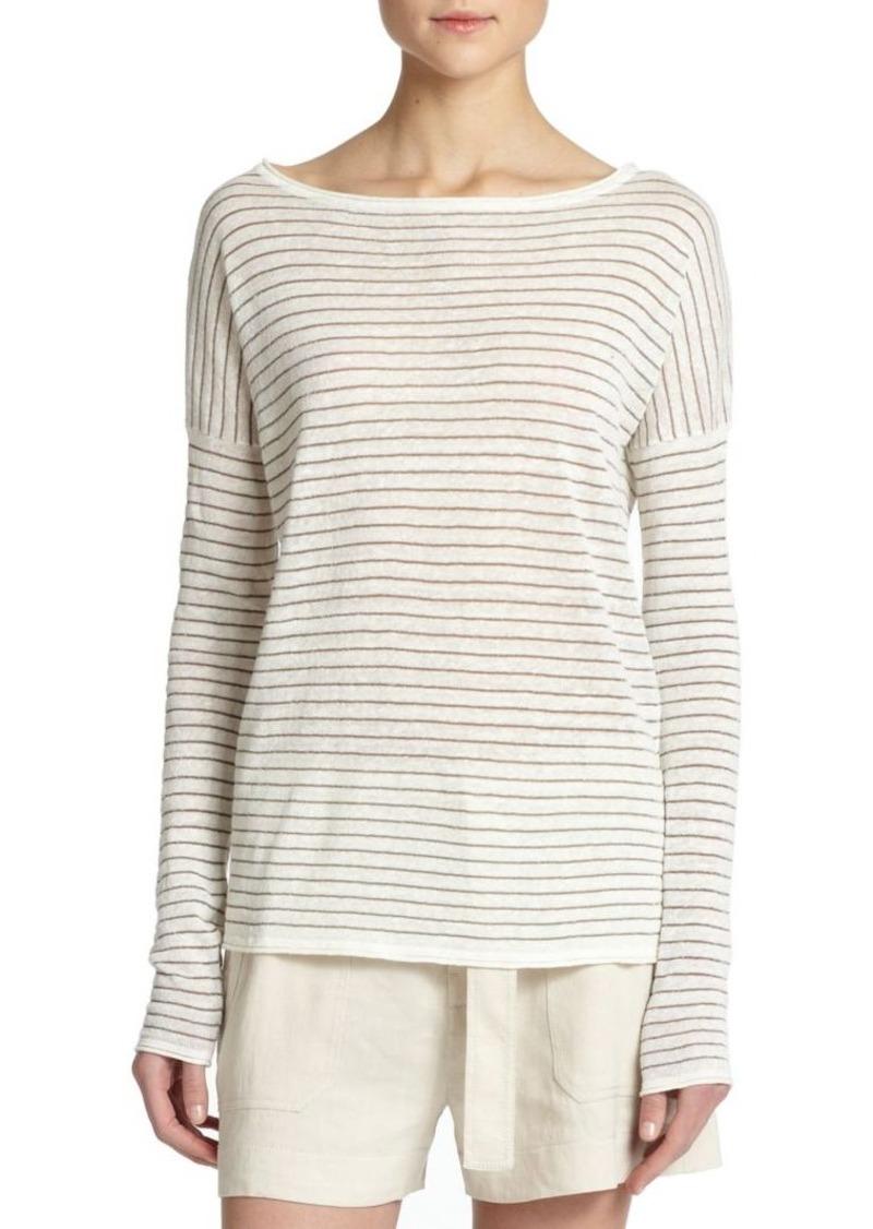 Vince Striped Boatneck Sweater