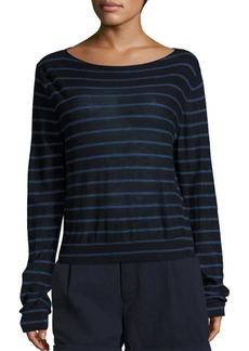 Vince Striped Cashmere Boatneck Sweater