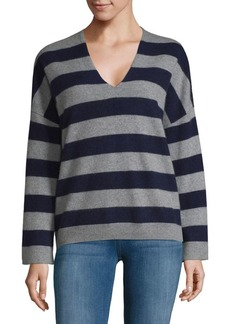 Vince Striped Cashmere Pullover