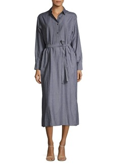 Vince Striped Cotton Shirtdress