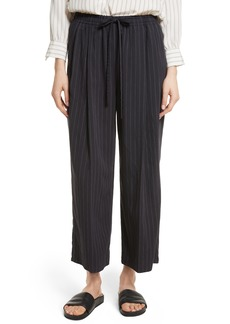 Vince Striped Drawstring Cropped Pants