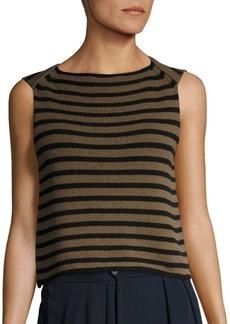 Vince Striped Knit Tank Top