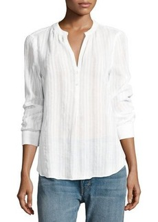 Vince Striped Long-Sleeve Top