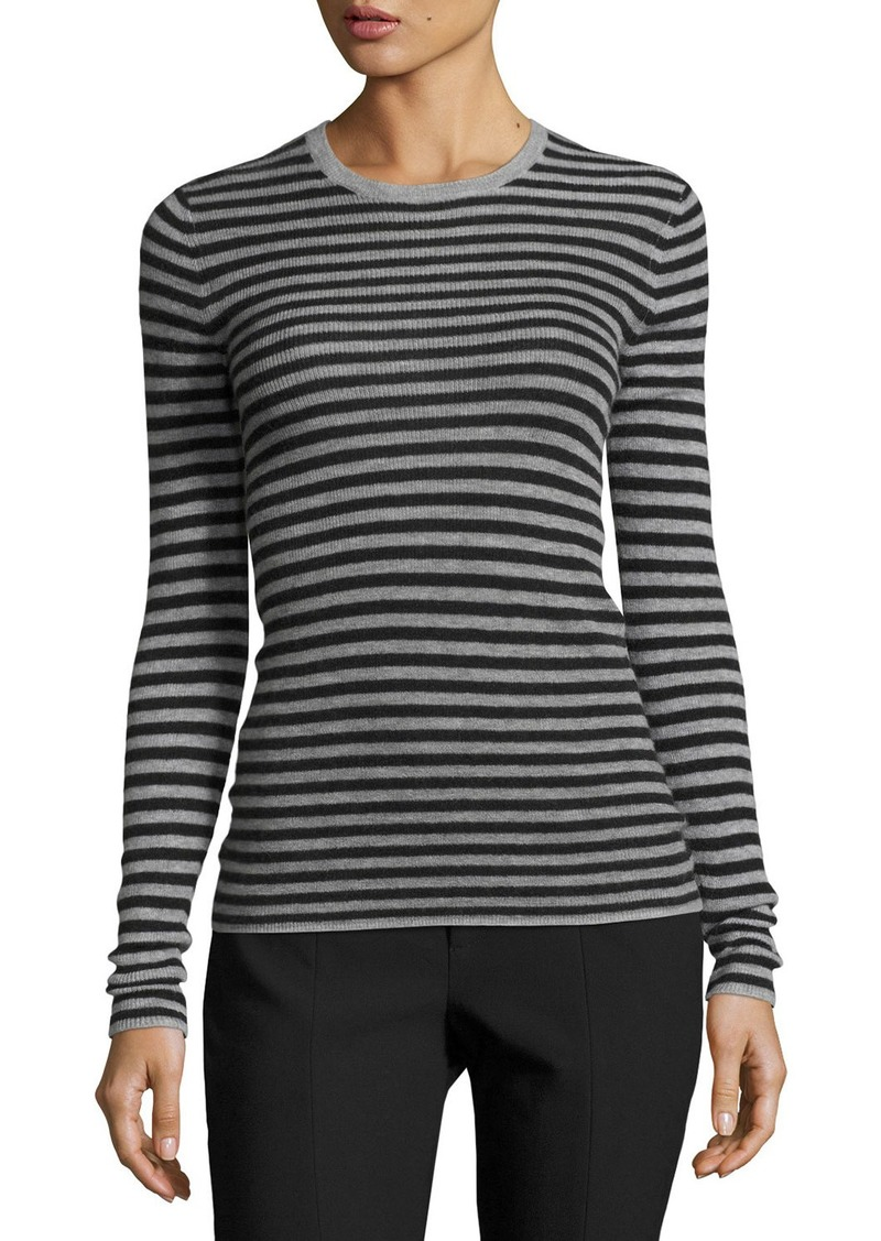 aae46c9a11f1 On Sale today! Vince Vince Striped Rib Cashmere Crewneck Sweater