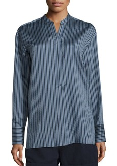 Vince Striped Silk Tunic